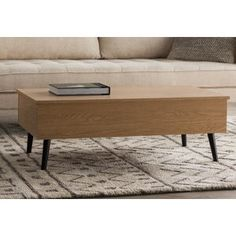 Ivy Bronx Cordray Coffee Table with Lift Top Color: Light Oak Stylish Coffee Table, Lift Top Coffee Table, Coffee Table With Storage, Modern Coffee Tables, Dining Table In Living Room, Living Room Modern, Living Room Furniture, Living Room Essentials, Contemporary Dining Table