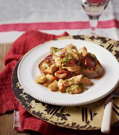 The heartiest beans on toast you'll ever – complete with chicken and chorizo – this recipe makes a superbly tasty and easy midweek meal.