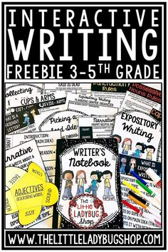 Free Writing Interactive Sample Packet for Teachers wanting to use Expository Writing, Narrative Writing Notebooks in their classroom. Perfect for students in 3rd grade, 4th grade, and home school classrooms. #writingnotebook #writingpromptsfreebie