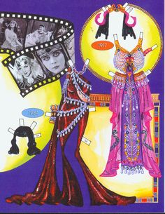 Cleopatra's costumes.  Page 5 of 8 Pages. By David Wolfe, Paperdollywood. Available for purchase at paperdollreview.com