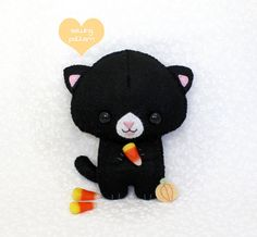 Easy Felt Plushie Sewing Pattern PDF  Halloween by TeacupLion, $6.00