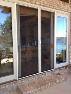 Retractable screens for doors - traditional - screen doors -  - by Retracta Screen of the Carolinas, Inc.
