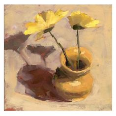lisa daria painting index home Watercolor Flowers, Paint Flowers, Knife Drawing, Yellow Vase, Still Life Flowers, Painting Still Life, Mini Canvas, Oil Paintings, Impressionism