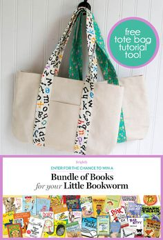 Read Brightly Book Giveaway... with a free book bag sewing tutorial! — SewCanShe | Free Daily Sewing Tutorials