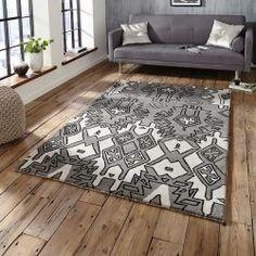 Spectrum Rug Grey Silver Tribal - Home Decor Product Floor Carpet , #floor #carpet #decor