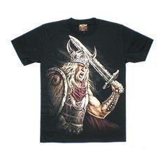 T-shirt vichingo con spada