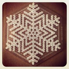 Snowflake -- perler beads