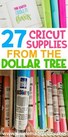 27 Cricut Craft Supplies From The Dollar Tree - Cricut Explore Air, Cricut craft supplies, Cricut ideas, Cricut projects beginner Cricut Machine, - Cricut Ideas, Cricut Tutorials, Cricut Project Ideas, Dollar Store Hacks, Dollar Stores, Dollar Tree Cricut, Dollar Tree Crafts, Dollar Tree Classroom, Dollar Tree Finds
