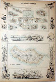 Histoire de Madère - Carte ancienne - Cliquer pour agrandir l'image