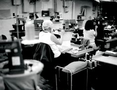 Employees at the John Smedley factory. Industrial Revolution, Derbyshire, Design Process, Britain, England, Knitwear, Tricot, England Uk, Stricken