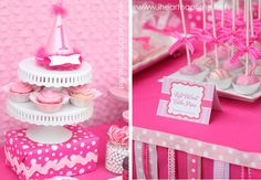 Pretty in Pink 1st Birthday Party | CatchMyParty.com