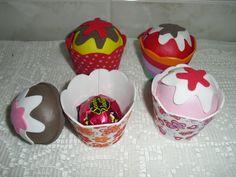 Porta bombom cupcake