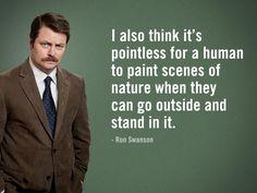 Ron Swanson Says... : Photo