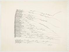 Ana Hatherly, Poeta chama poeta II, 1989, Col. Fundação de Serralves – Museu de Arte Contemporânea, Porto