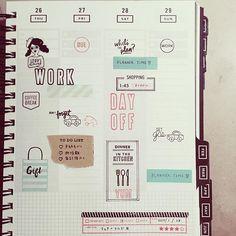 . #gettoworkbook . . #planneraddict #plannerlove #planner #stamp #kellypurkey #studiol2e #christineherrin #teqniquetuesday #waffleflowercrafts #手帳 #シール #ふせん #スタンプ #ケリーパーキー  #cocofusen