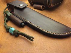 Knife sheath #leatherwork #bushgear #sheath #knife