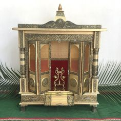 Diwali Pictures, Emboss Painting, Indian Idol, Home Temple, Tanjore Painting, Brass Statues, Indian Home Decor, Gods And Goddesses, Four Legged