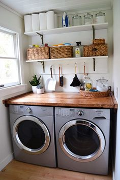 There are so many exciting small laundry room design ideas that you can apply for your small laundry room. Having a laundry room in your house is definitely a must. It ensures that you have fresh and clean clothes at… Continue Reading → Laundry Room Layouts, Laundry Room Remodel, Small Laundry Rooms, Laundry Room Organization, Laundry Room Design, Organization Ideas, Storage Ideas, Laundry Decor, Laundry Storage