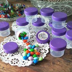 Made in America 30 Jars Containers Purple Caps Lids Screw On 2 Tblsp 1oz #4304  #DecoJars