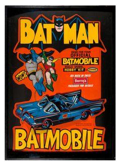 Store display for Burry's Cookies. Oh so rare! Batman And Superman, Batman Robin, Hobby Kits, Model Hobbies, Automotive Art, Batmobile, Weird World, Old Toys, Comic Character