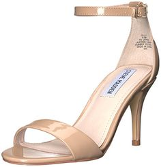 Steve Madden Women's Sillly Dress Sandal, Natural, 6.5 M US Shoes to die for
