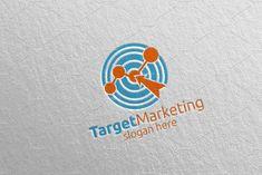 Target Marketing Financial Logo 50 by denayunebgt on @creativemarket Marketing Logo, Financial Logo, Logos, Logo