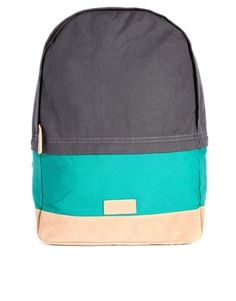 Image 1 of ASOS Backpack with Colour Block