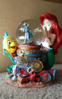 Walt Disney's Rare Little Mermaid Musical Snow Globe