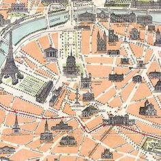 Map of Paris 1900 | Old Maps of Paris