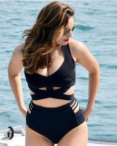 One Piece Swimsuit Plus Size Swimwear #PlusSizeSwimwear