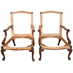 Exceptionally Fine Pair of George III Mahogany Gainsborough Chairs | From a unique collection of antique and modern armchairs at https://www.1stdibs.com/furniture/seating/armchairs/