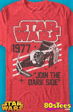 Join The Dark Side Star Wars T-Shirt: Star Wars Mens T-Shirt Star Wars Geeks: Every day can be special wearing this cool men's style design shirt with great art and illustration.