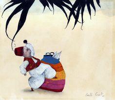 Illustration originale de Carll Cneut - Un secret pour grandir 2 | Oeuvres | Galerie Robillard