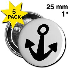 Einfach rauf auf's Schiff und sich die Meeresbrise um die Nase wehen lassen ... geht auch in der Großstadt - mit SCHIFFAHOI • 5er Pack Ansteck-Buttons