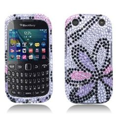 $4.63 RIM BlackBerry Curve 9310/9320 (Verizon/ Boost Mobile) Large Full Diamond Protector Case, Flowers Pink with White