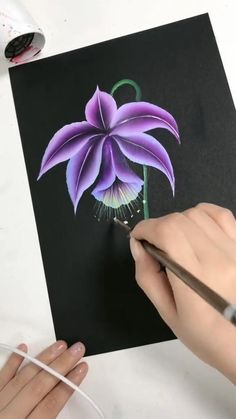 Acrylic Painting Flowers, Acrylic Art, Diy Painting, Flowers On Canvas, Rock Painting, Paintings Of Flowers, Painting Flowers Tutorial, Paint Flowers, One Stroke Painting
