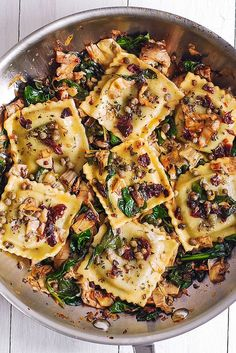 Italian Ravioli with Spinach, Artichokes, Capers, Sun-Dried Tomatoes. The vegeta Italian Ravioli with Spinach Artichokes Capers Sun-Dried Tomatoes. The vegeta Vegetarian Recipes, Cooking Recipes, Healthy Italian Recipes, Cooking Ideas, Meatless Pasta Recipes, Vegetable Pasta Recipes, Beef Recipes, Recipies, Best Italian Food