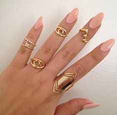 Peach Nails.