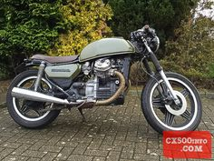 Featured Honda Build: The Major's Machine Cx500 Cafe, Honda Cx500, Motorcycle, Building, Vehicles, Green, Motorbikes, Buildings, Motorcycles