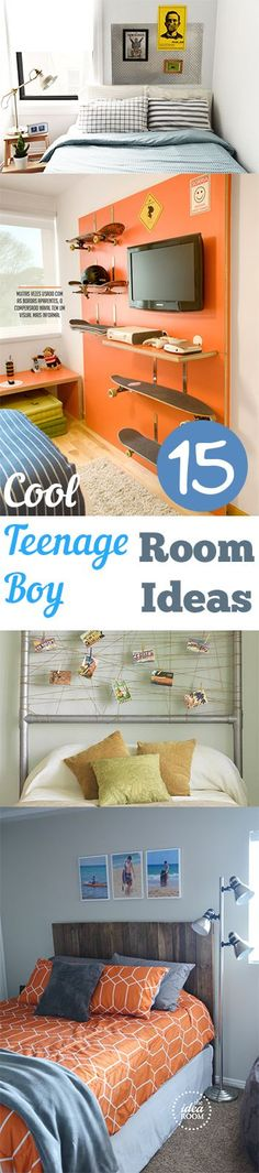 15 Cool Teenage Boy Room Ideas- Amazing DIY projects, design ideas and tutorials