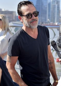 Jeffrey Dean Morgan attends the 'The Walking Dead' TV series press line at Comic-Con International on July 22, 2016 in San Diego
