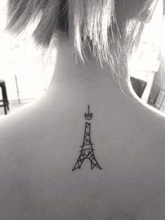 My first #tattoo #eiffeltower #paris