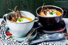 Melonen-Karotten-Suppe mit Chili-Schaum und knusprigem Fenchel  GourmetGuerilla.de