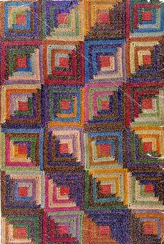 Ravelry: Log Cabin Afghan - No. 1020 pattern by Sunlight Yarn Design Team