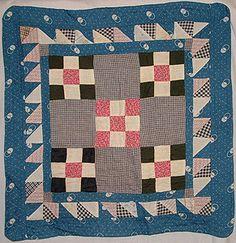 nine-patch antique doll quilt