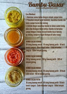 chef by accident: Bumbu Dasar Praktis Cooking Time, Cooking Recipes, Mie Goreng, Indonesian Cuisine, Indonesian Recipes, Indonesian Food Traditional, Malaysian Food, Diy Food, Food Hacks
