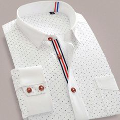 Cheap men brand dress shirt, Buy Quality mens dress shirts directly from China men dress shirt brand Suppliers: Fashion New Spring 2017 Floral Men Casual Shirts Long Sleeve Printed Polka Dot Autumn Brand Slim Fit Patchwork Men Dress Shirt Best Casual Shirts, Formal Shirts For Men, High Collar Shirts, Long Sleeve Shirts, Korean Shirts, Shirt Dress Pattern, Camisa Formal, Stylish Mens Outfits, Business Shirts