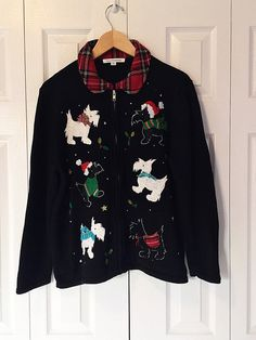 Ugly Christmas Sweater Scottie Dogs Holiday by theVintageSummer