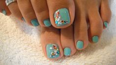 I have stones on my pedi too!  I love this colour!