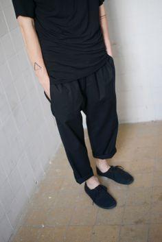 Pants by Drevena Helena black / minimal / basic